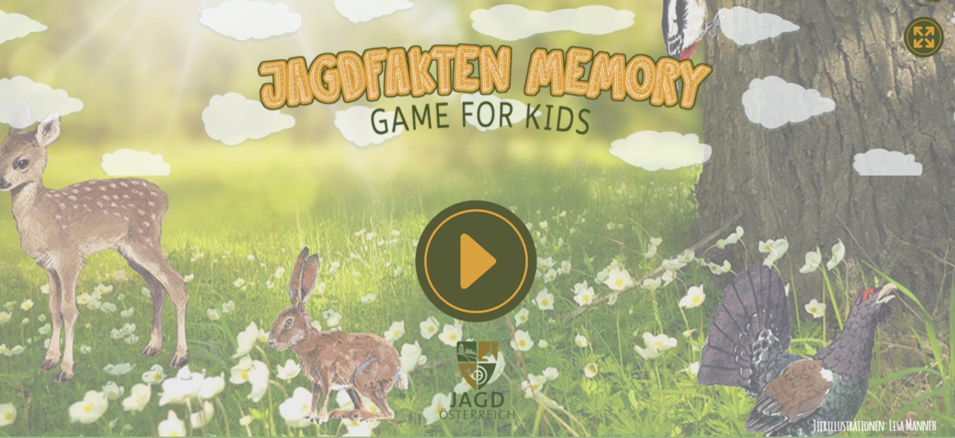 Memory Spiel, Jagdfakten.at